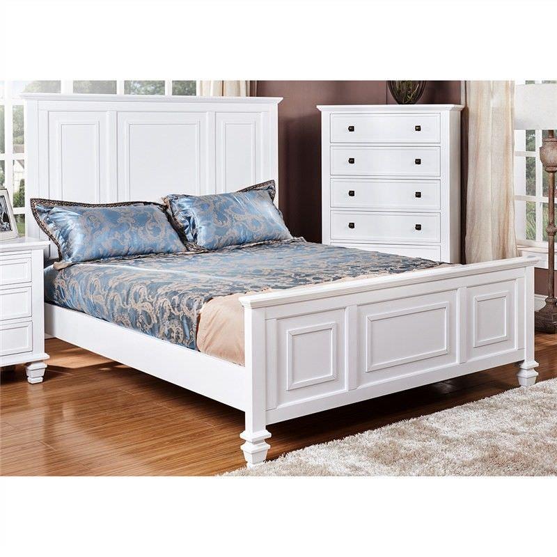 Monet Solid American Poplar Timber Queen Bed