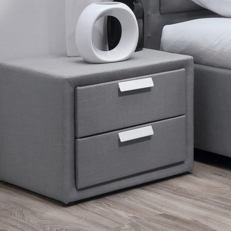 Marietta Fabric Upholstered Bedside Table