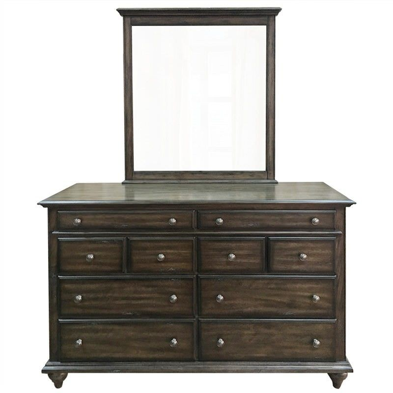 Livonia Solid American Poplar Timber Dressing Table with Mirror