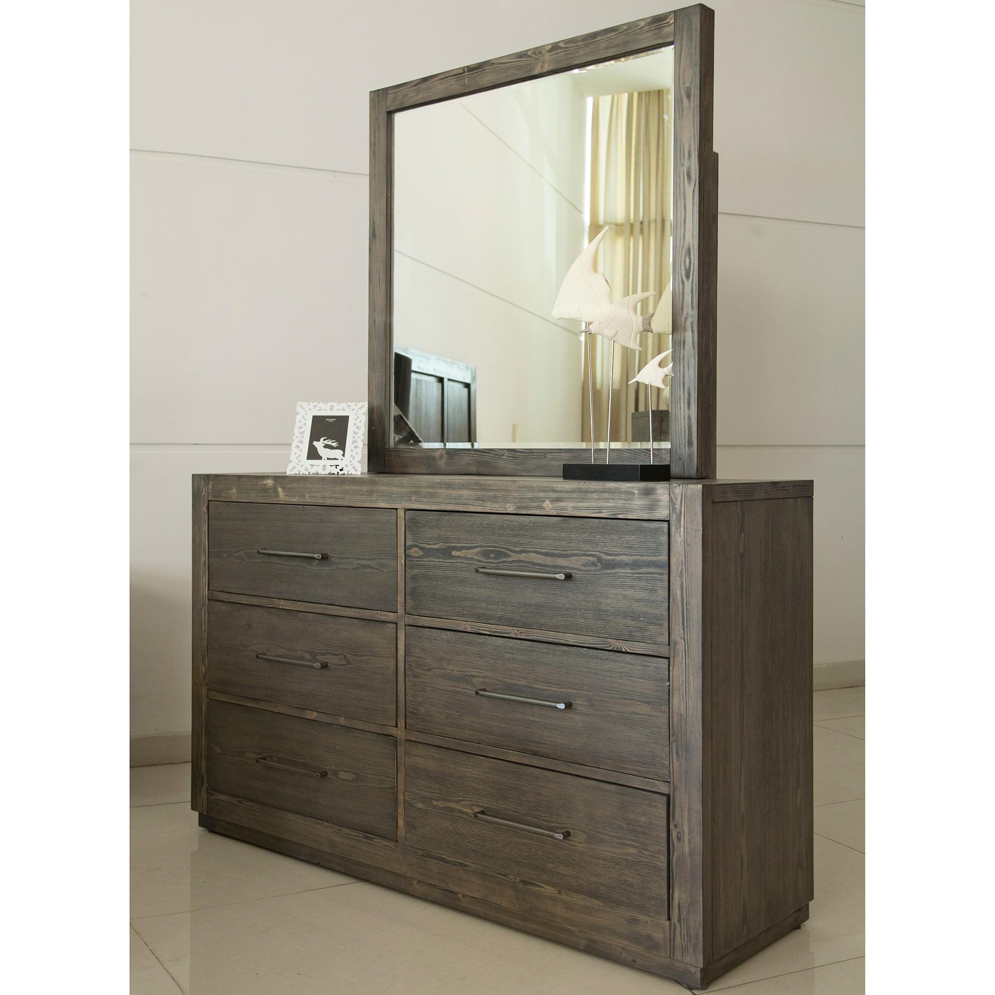 Marshall Rubberwood Timber 6 Drawer Dresser