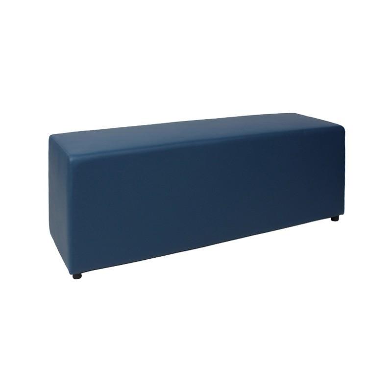 Delhi Commercial Grade Vinyl Bench, 115cm, Blue