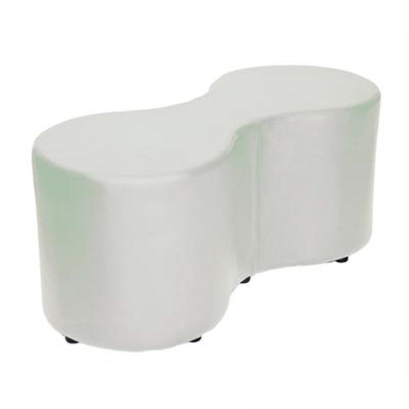 Amoeba Commercial Grade 2 Seater Bench - White
