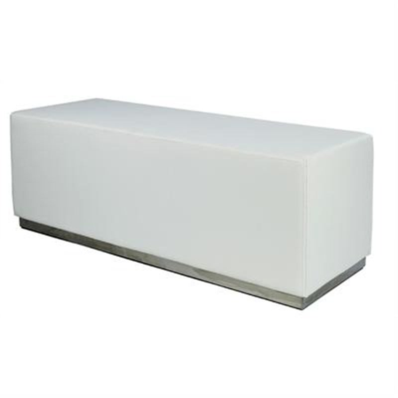 Amino Bench in White Commercial Grade