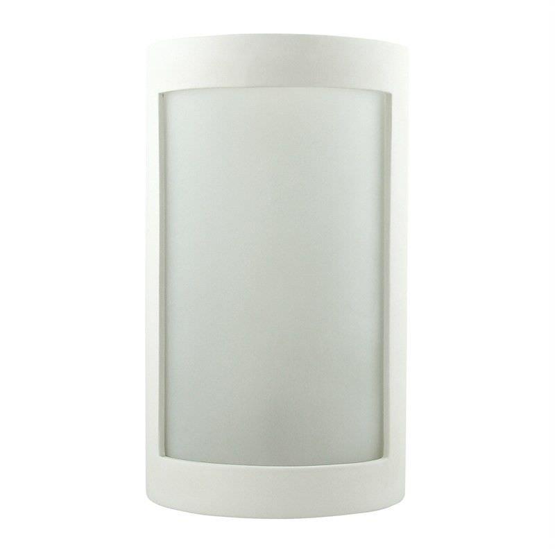 Italian Made Ceramic Wall Light - Vertical Windowed Curve
