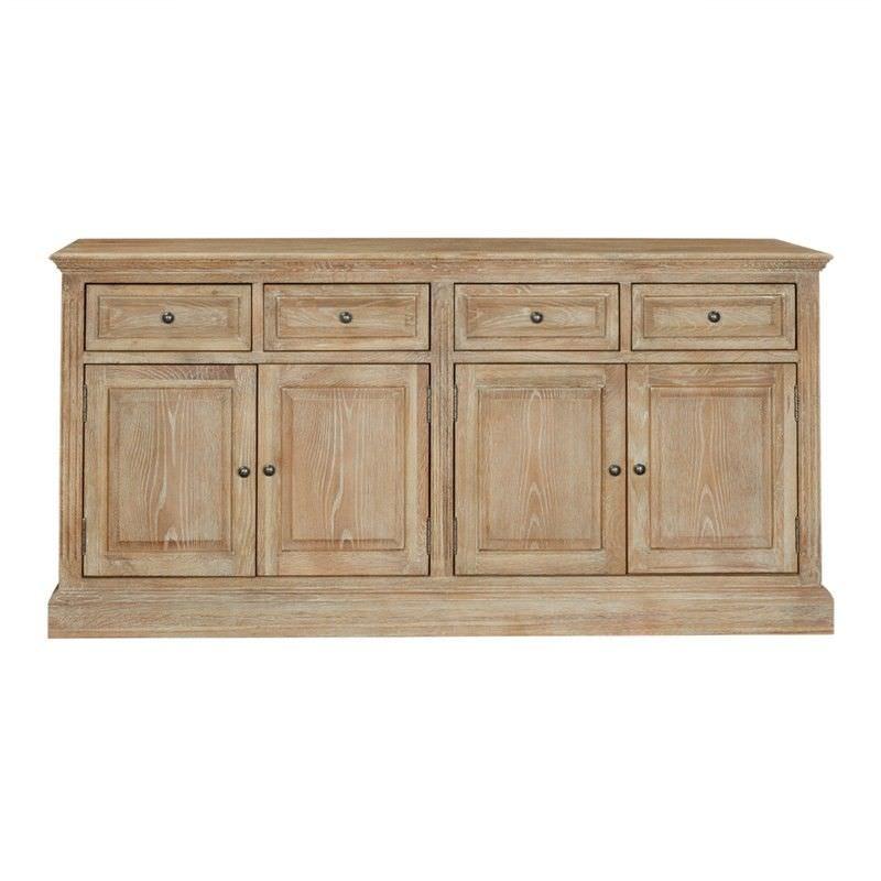 Georgian Solid American Oak Timber 4 Door 4 Drawer 172cm Buffet Table