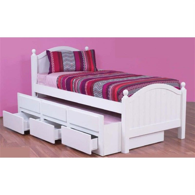 Kelly Single Captains Bed With Storage and Single Trundle