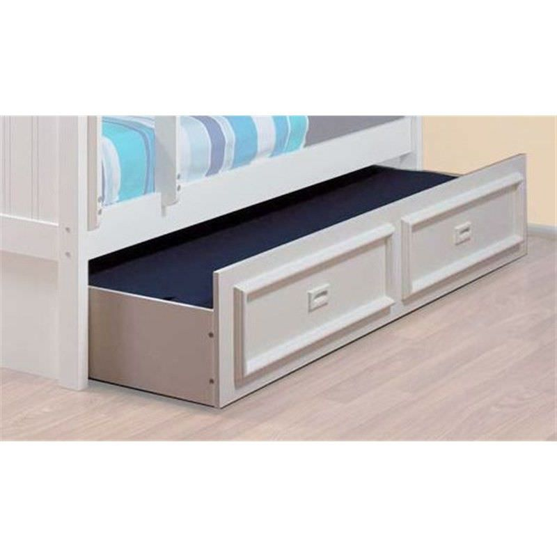 Teenage Trundle Bed, King Single, Arctic White