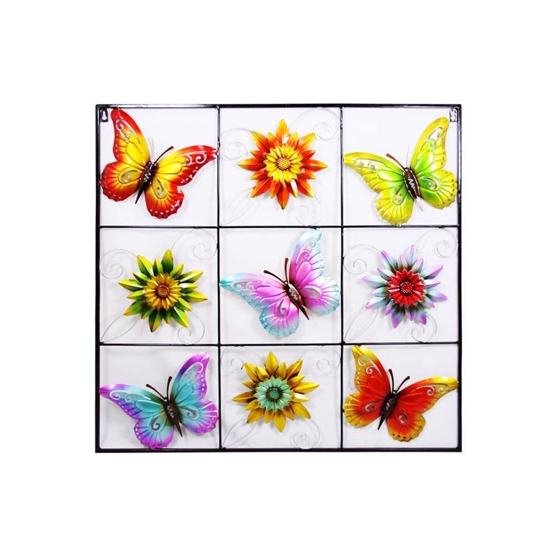 Square Metal Butterfly Wall Art