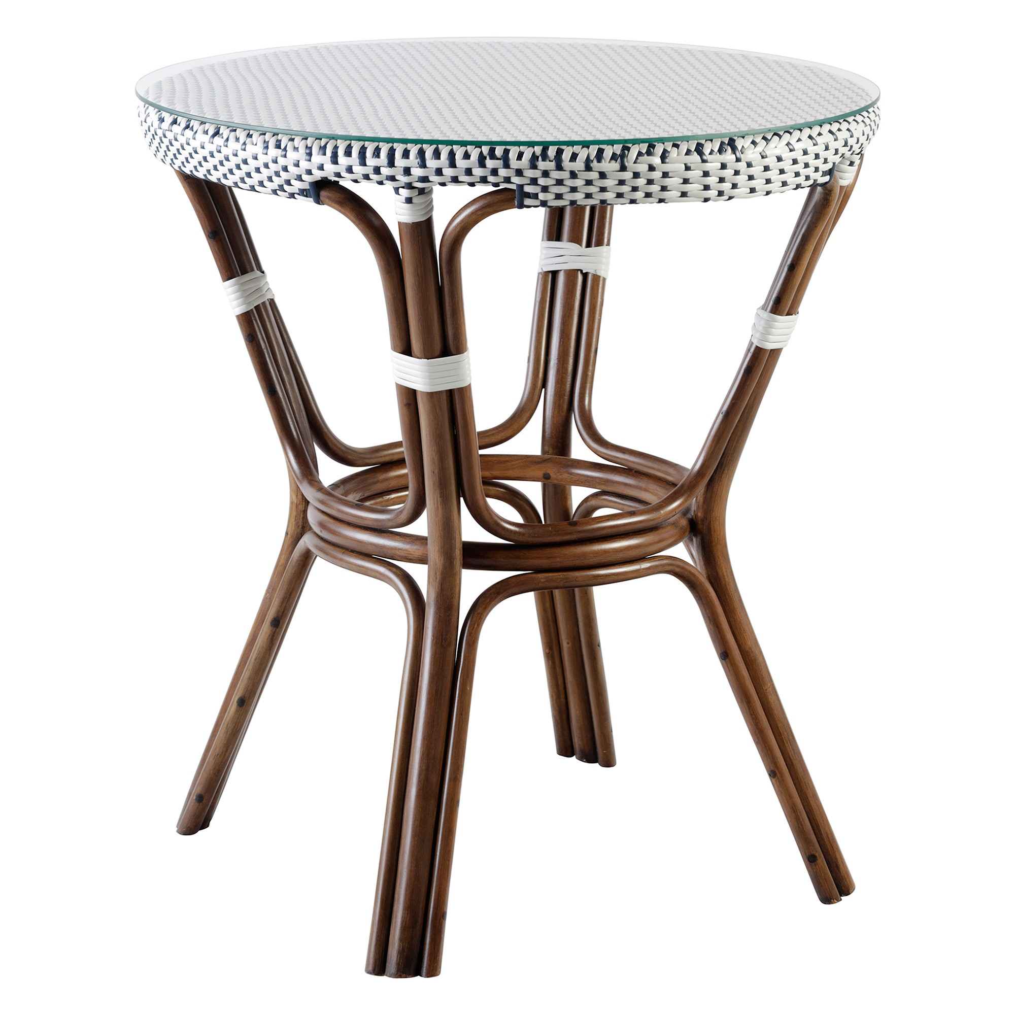 Kingsley Rattan Round Bistro Dining Table, 70cm