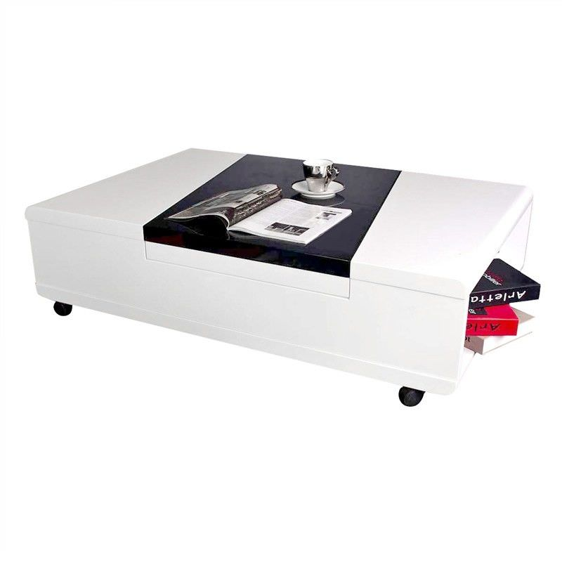 Tunis High Gloss 120cm Coffee Table with Castors