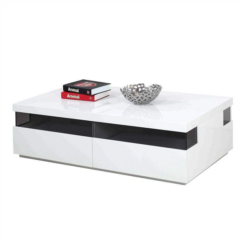 Tomka High Gloss 2 Drawer 120cm Coffee Table