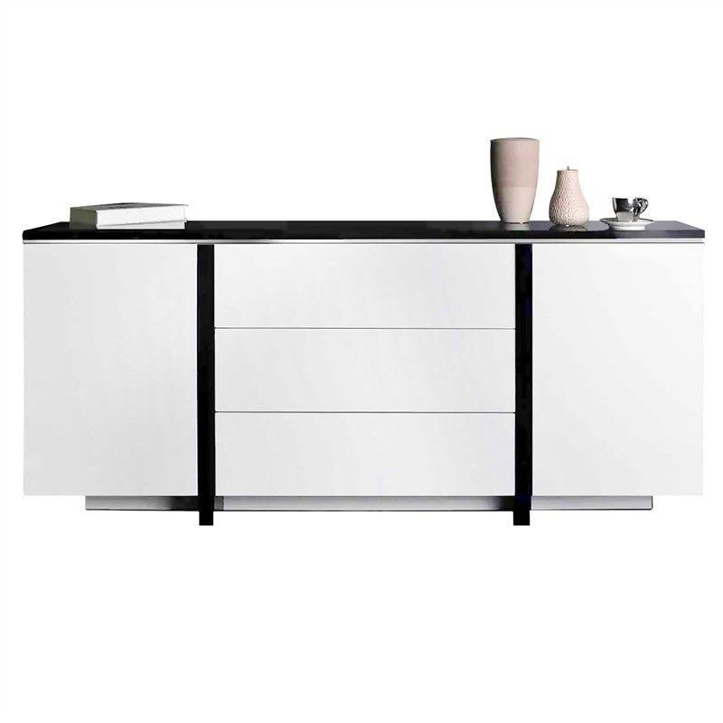 Konnor High Gloss 2 Door 3 Drawer 180cm Buffet Table