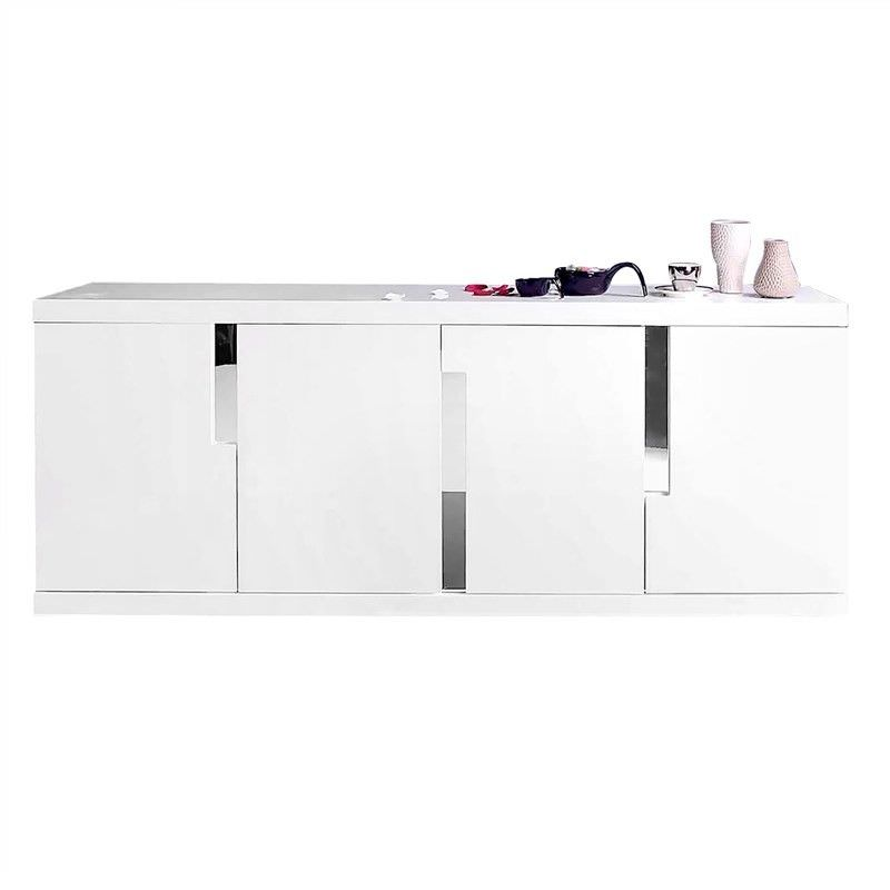 Skylar High Gloss 4 Door 200cm Buffet Table