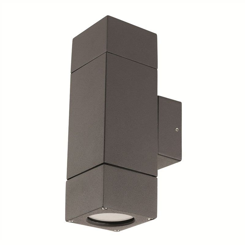 Prairie Up and Down IP44 Exterior Wall Light - Charcoal