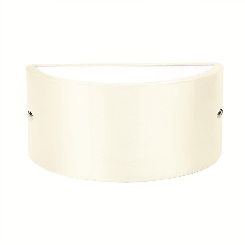 Chatri Die-cast Aluminium Curved Up-Down IP54 Exterior Wall Light - Beige