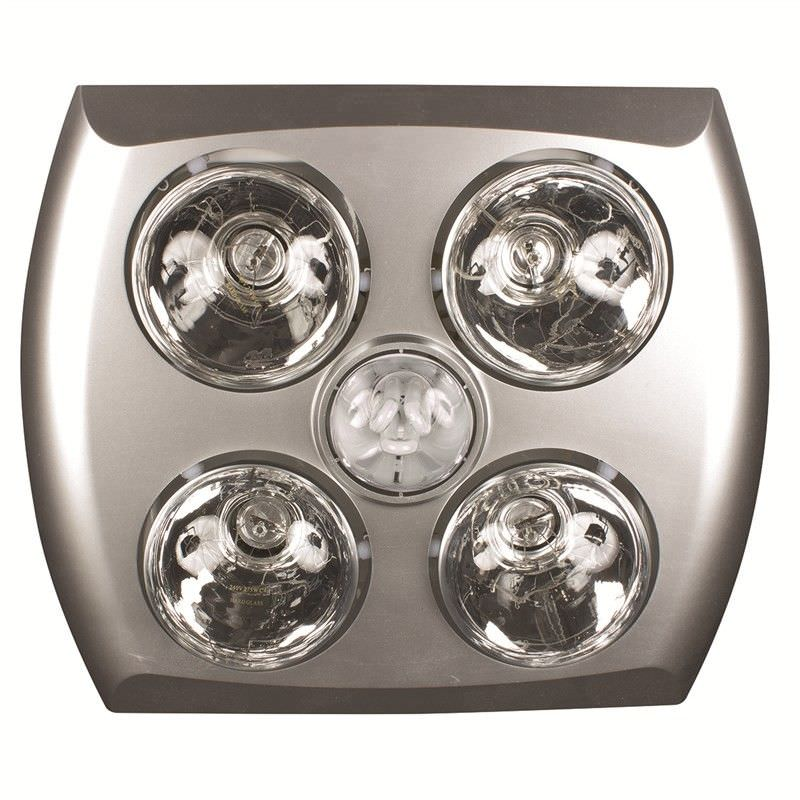 Majestic 4 Heater 3-In-1 Bathroom Heater with Exaust Fan and Illumination - Silver