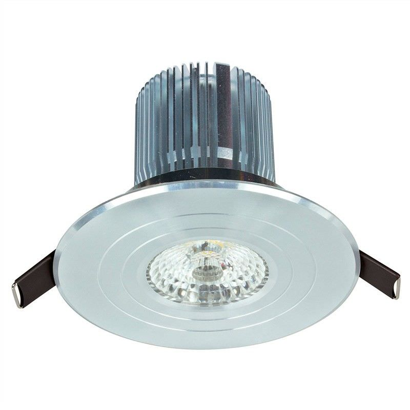 Luxor Round Fixed 12W Cool White High Lumen LED Downlight - Stainless Steel