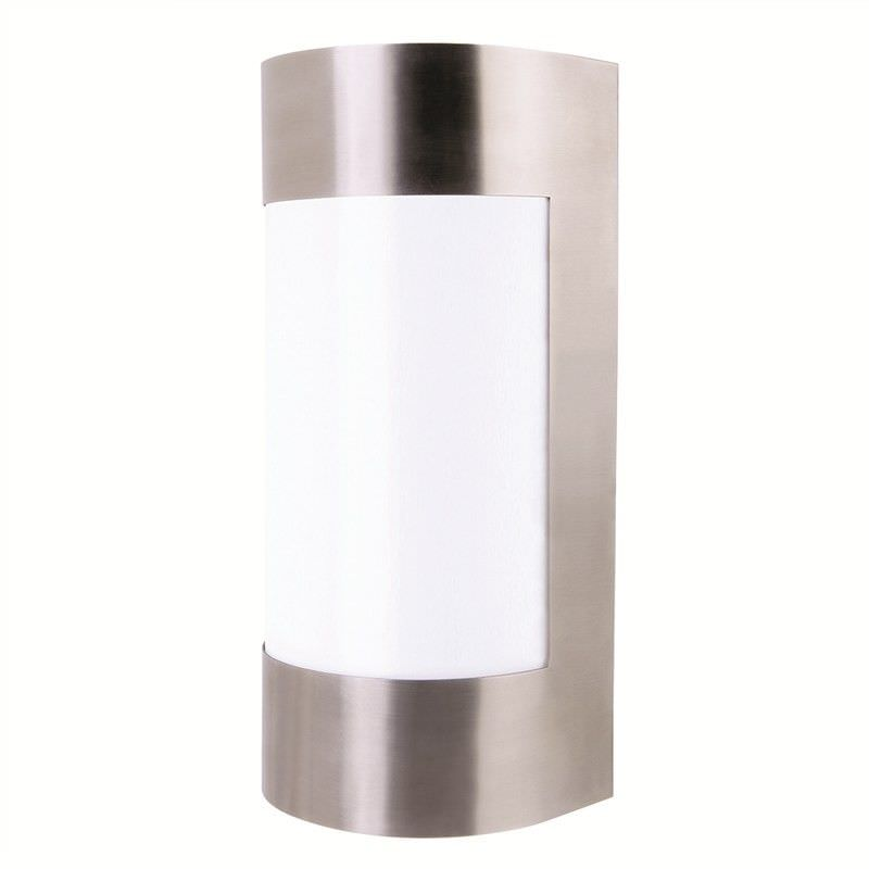 Lancet Stainless Steel IP44 Exterior Curved Wall Light