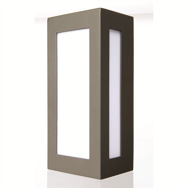 Eave Lantern Style Die-cast Aluminium IP44 Exterior Wall Light - Charcoal