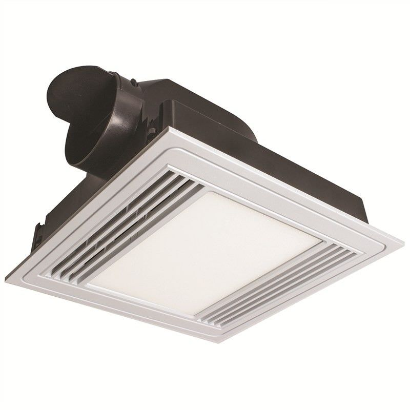 Tercel Square Exhaust Fan with LED Light - White