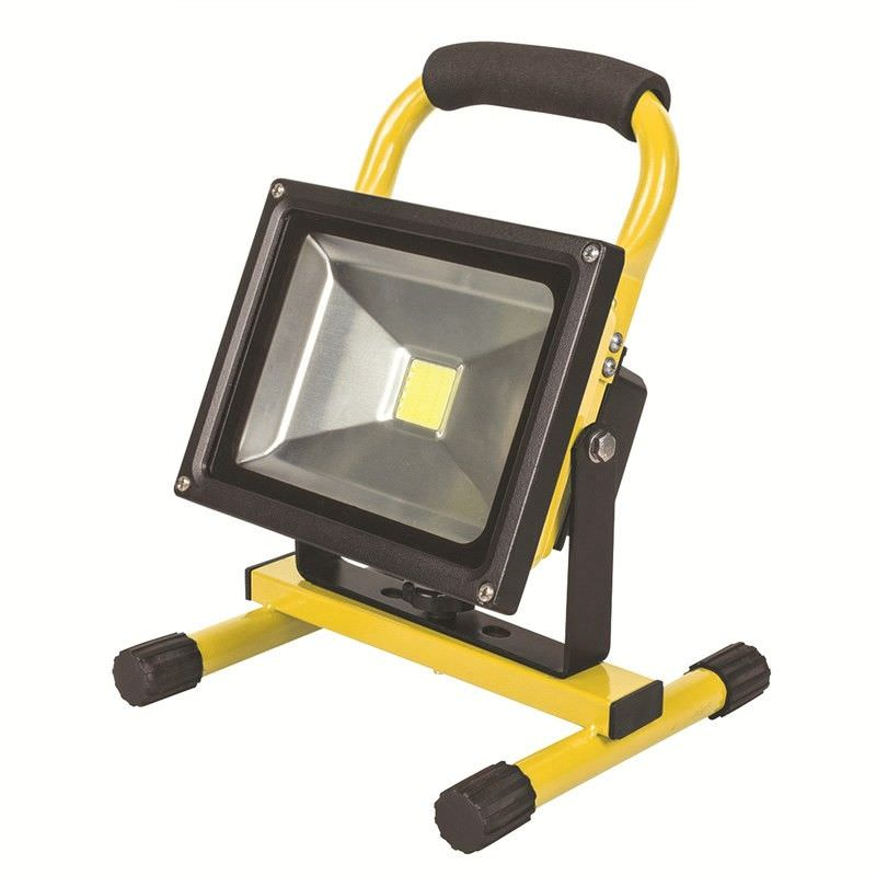 Portalamp 20W LED Protable and Rechargeable Floodlight - Yellow