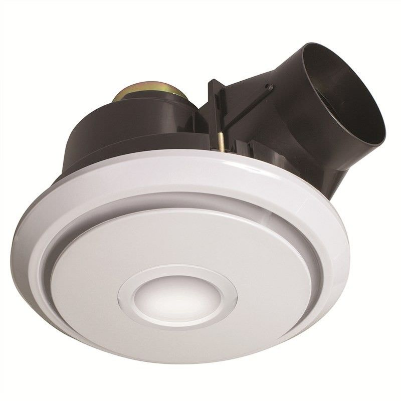 Boreal 27cm Round Exhaust Fan with LED Light - White