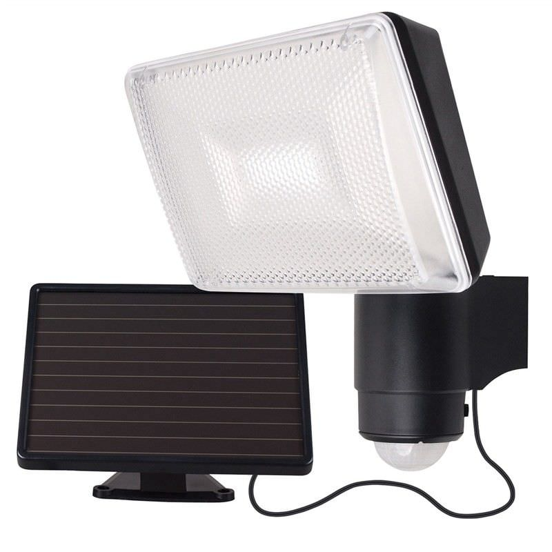 Solei IP44 Exterior Solar Powered LED Security Light with Sensor