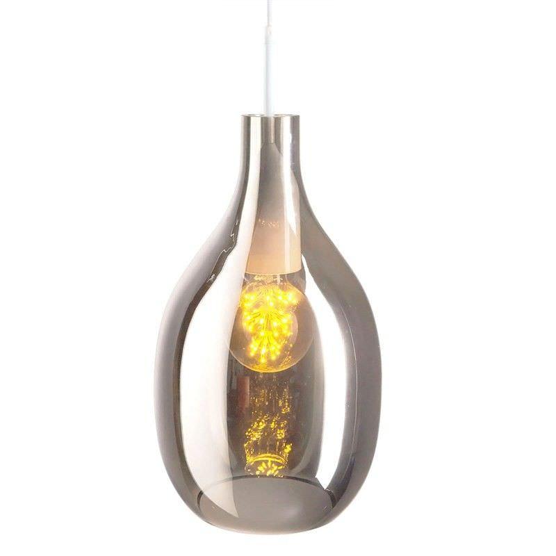 Lisser Glass Pendant Light - Smoke