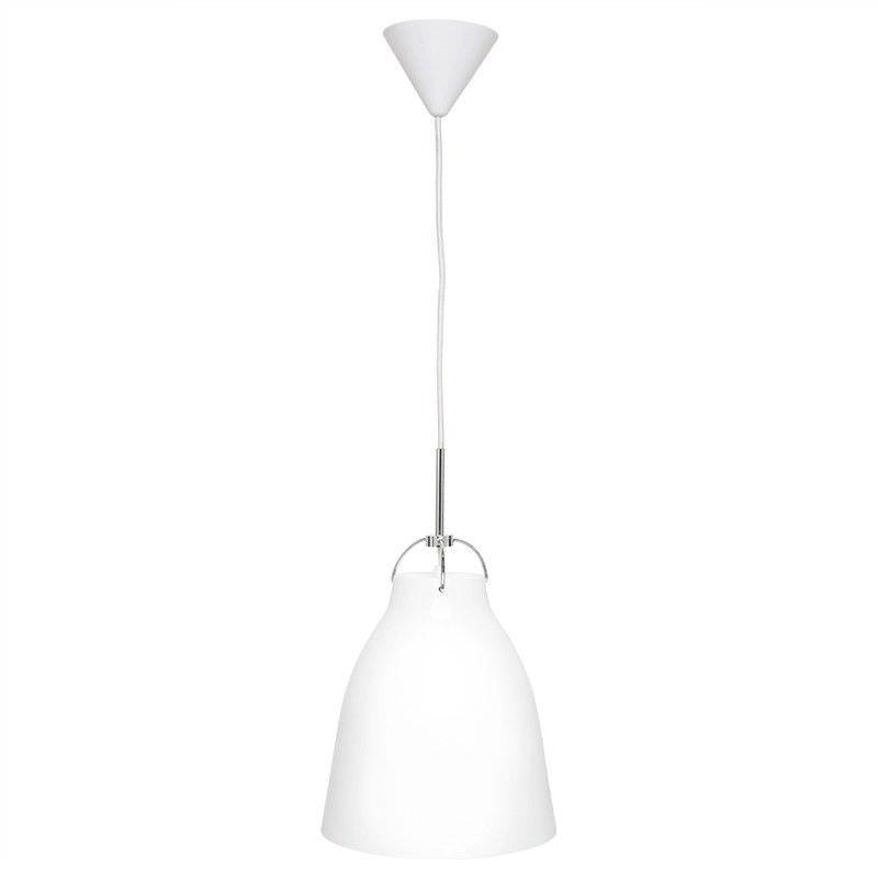 Finn Large Metal Pendant Light - Gloss White