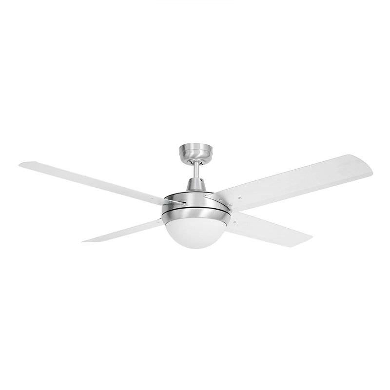 Tempest High Performance 132cm Aluminium Ceiling Fan with Light - Silver