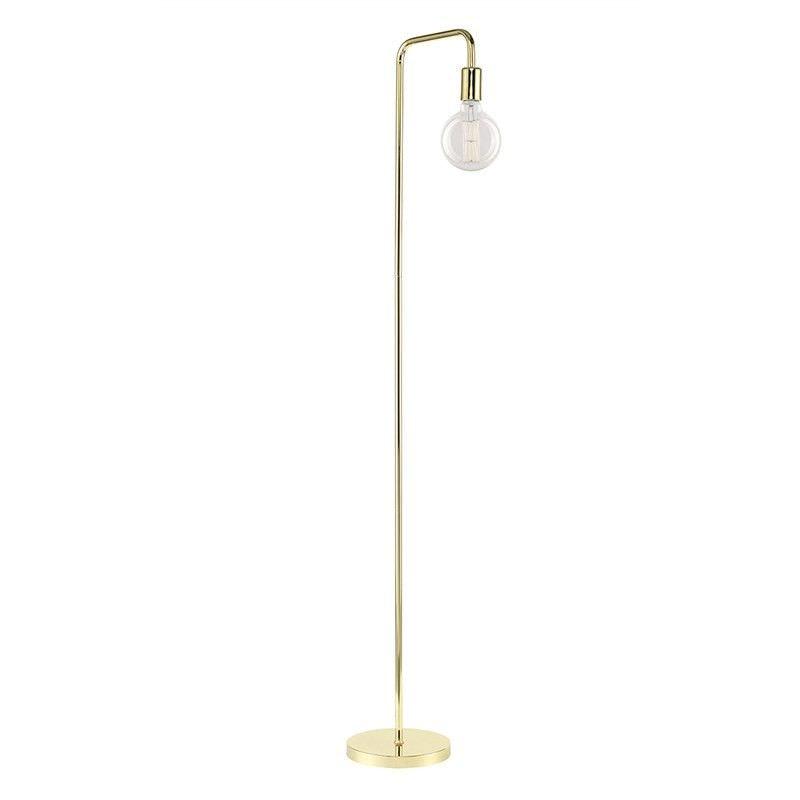 Douglas Industrial Metal Pipe Floor Lamp - Brass