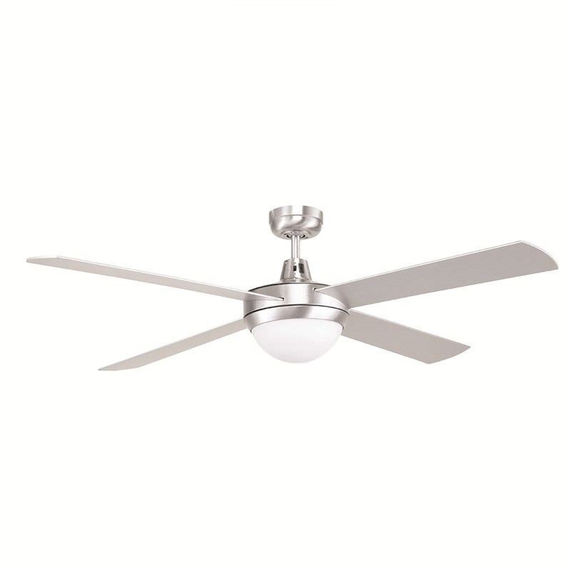 Tempest II 52 Inch Ceiling Fan with Light - Brushed  Aluminium
