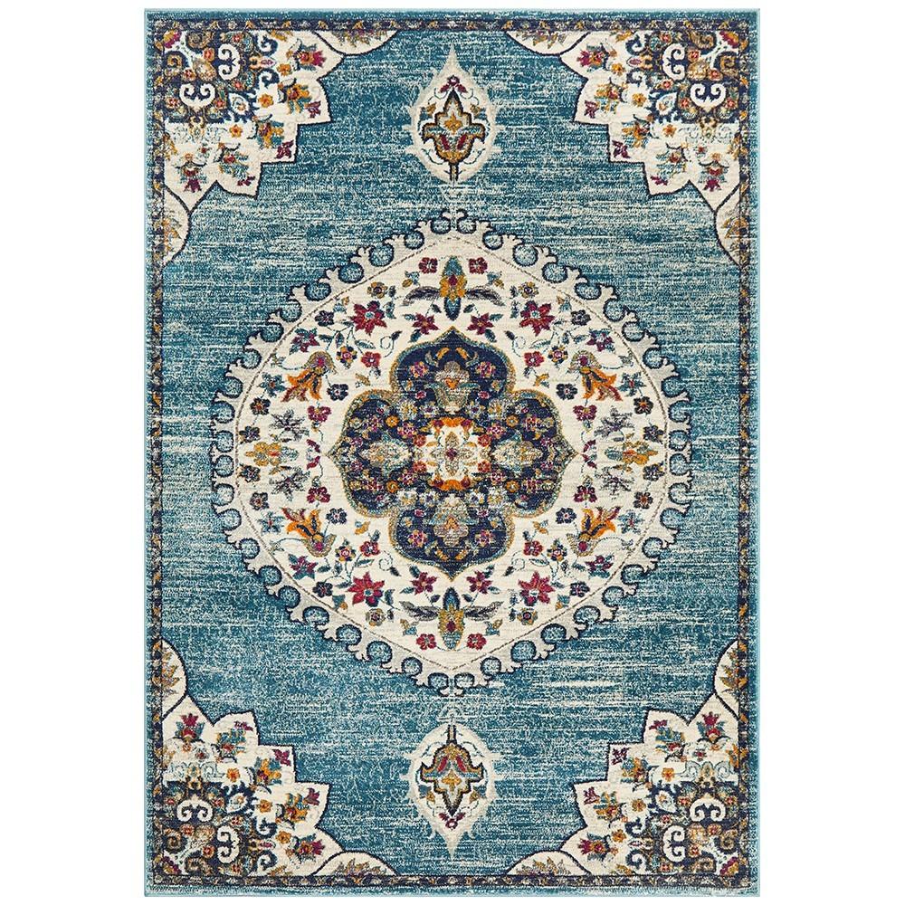 Babylon Chantilly Bohemian Rug, 200x290cm, Blue