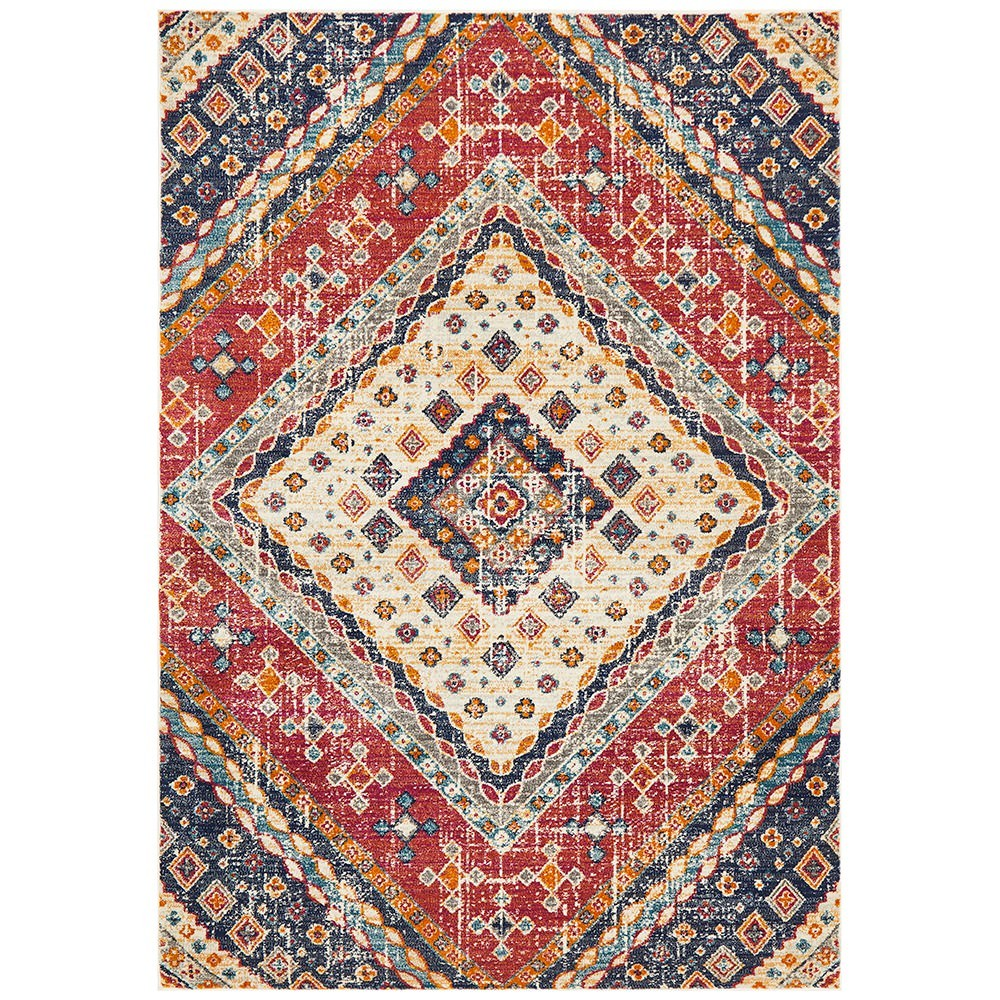 Babylon Diamond Bohemian Rug, 200x290cm, Multi