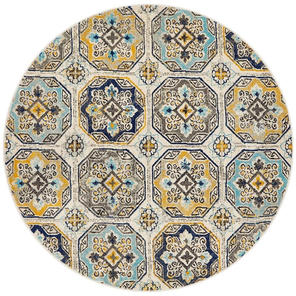 Babylon Hermione Bohemian Round Rug, 150cm, Blue
