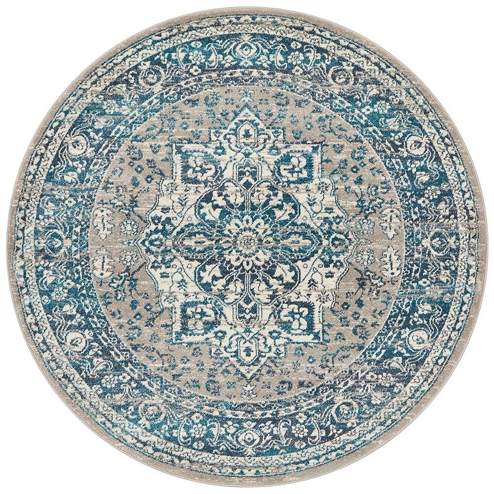 Babylon Oriana Bohemian Round Rug, 200cm, Blue