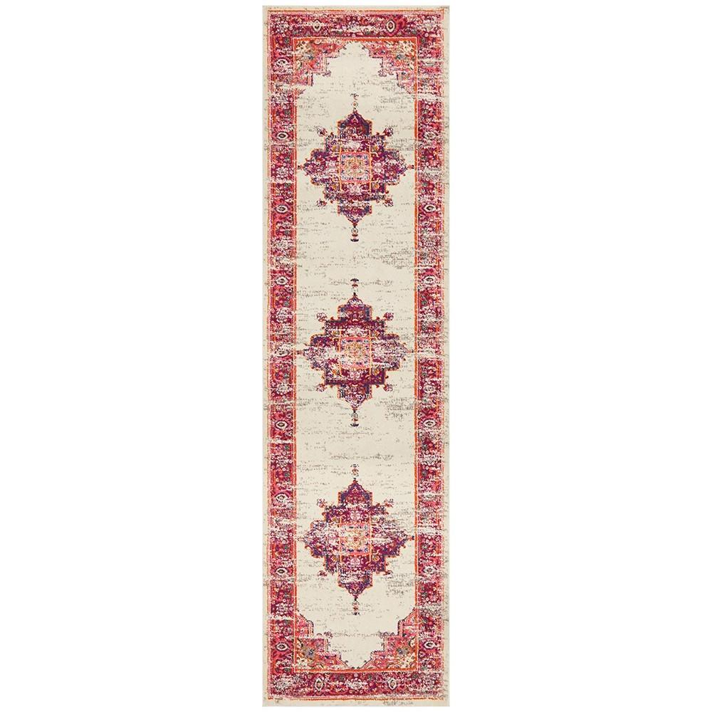 Babylon Zenovia Bohemian Runner Rug, 80x500cm, Pink