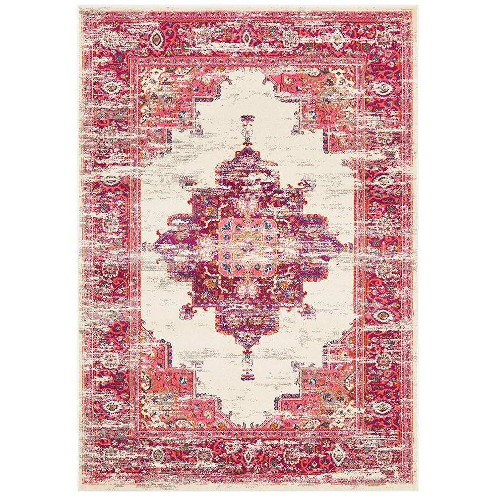 Babylon Zenovia Bohemian Rug, 240x330cm, Pink