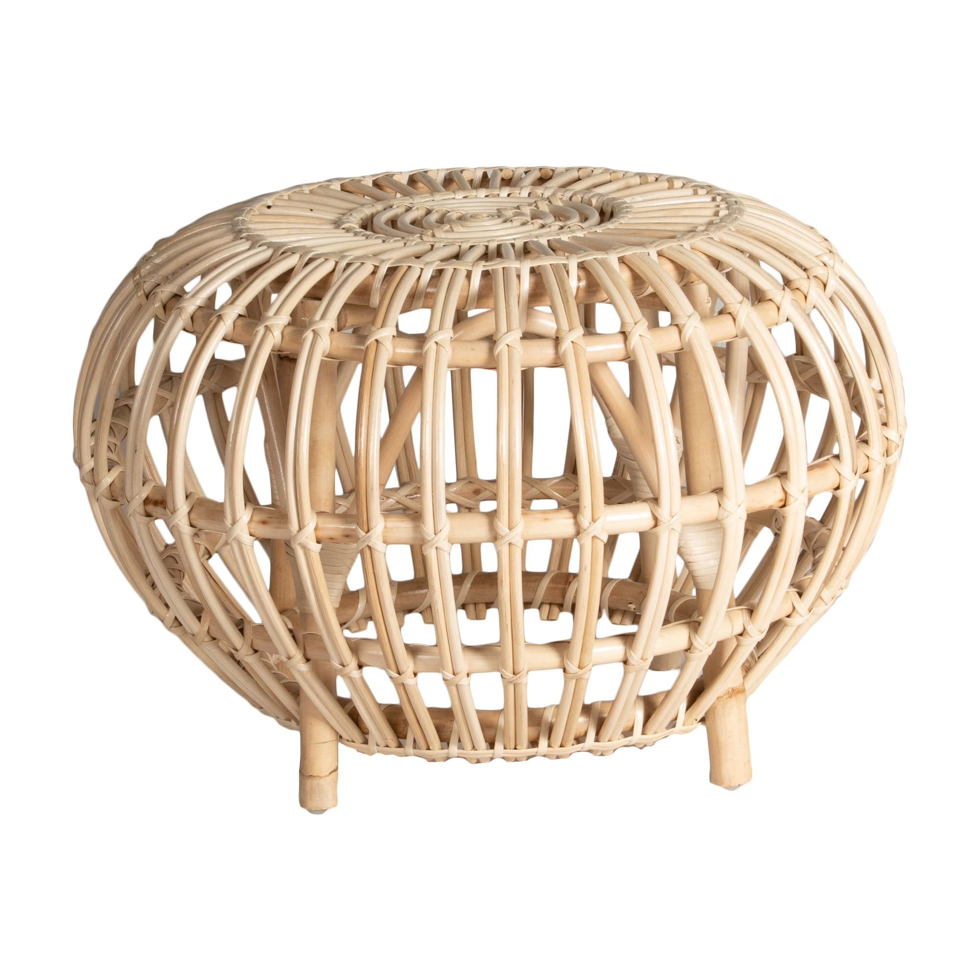 Doral Rattan Round Side Table, Natural