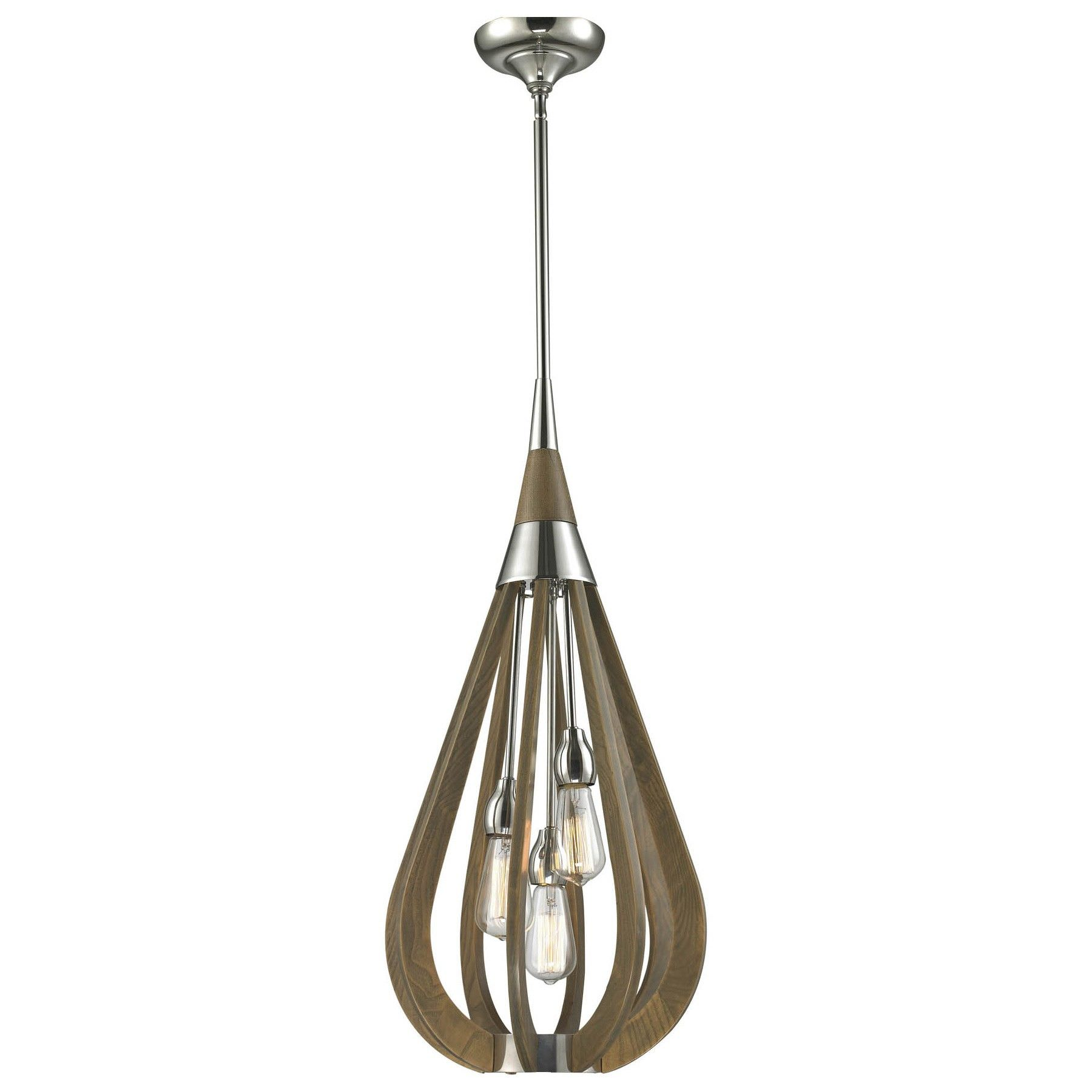 Bonito Wooden Frame Pendant Light, Medium