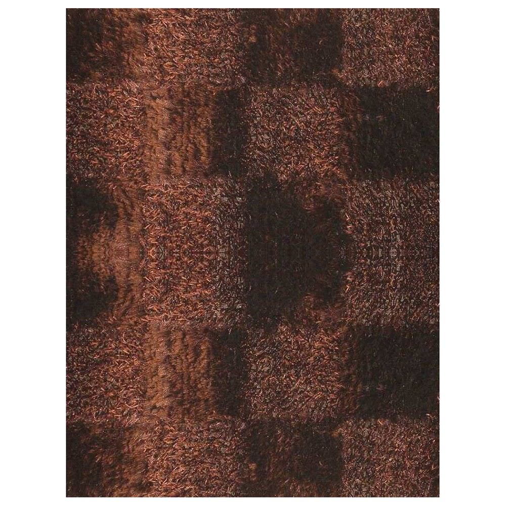 Borneo Hand Knotted Shaggy Rug, 200x140cm, Chocolate