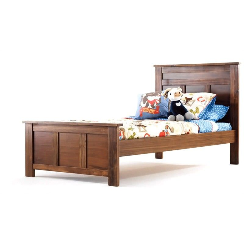 Boston Solid New Zealand Pine Timber King Single Bed - Nutmeg
