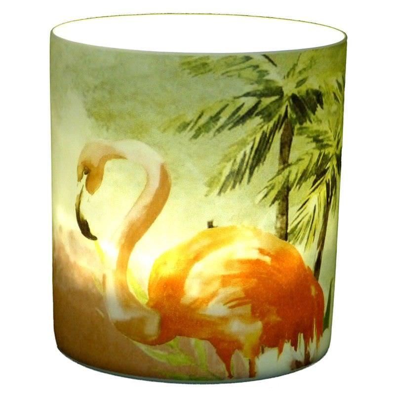 Trinity Porcelain Tealight Holder, Flamingo