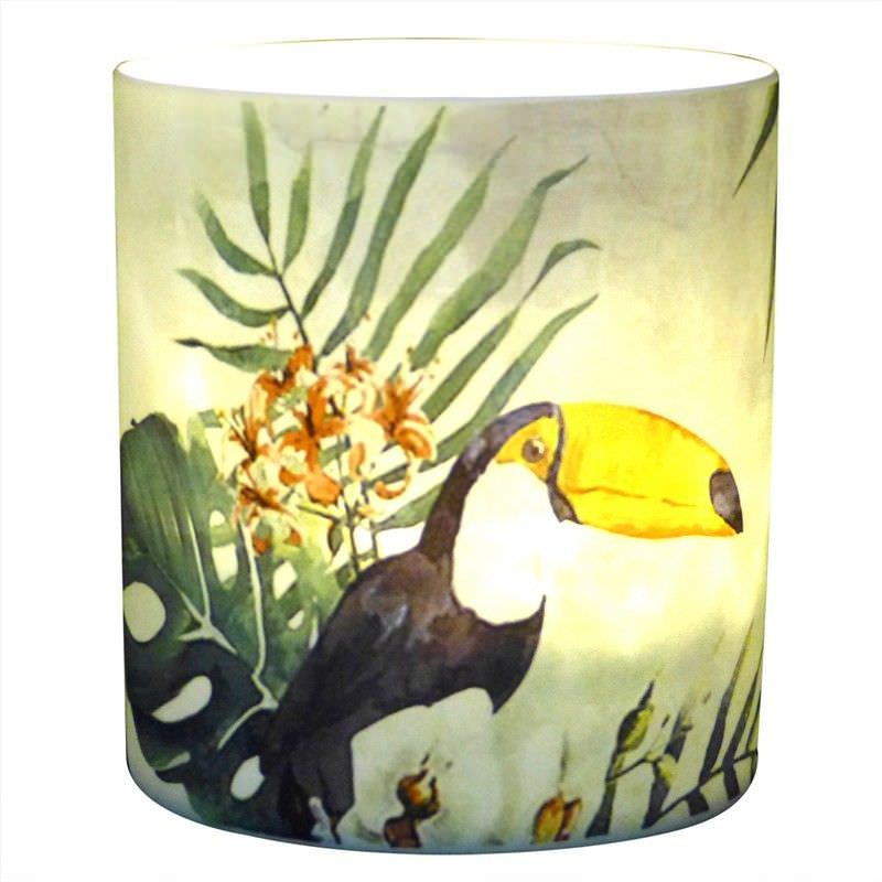 Trinity Porcelain Tealight Holder, Toucan