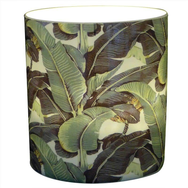 Trinity Porcelain Tealight Holder, Banana Leaf