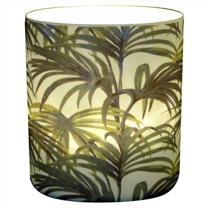Trinity Porcelain Tealight Holder, Sentry Palm