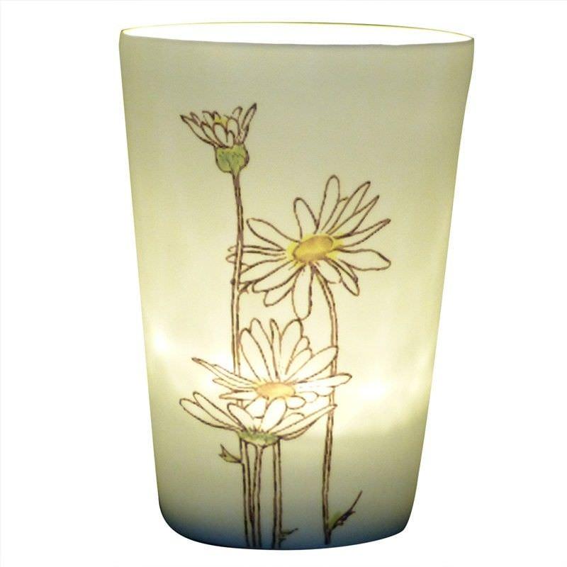Kiva Porcelain Tealight/Votive Holder, Painted Daisy
