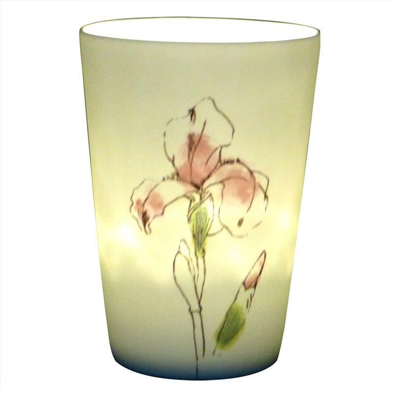 Kiva Porcelain Tealight/Votive Holder, Painted Orchid