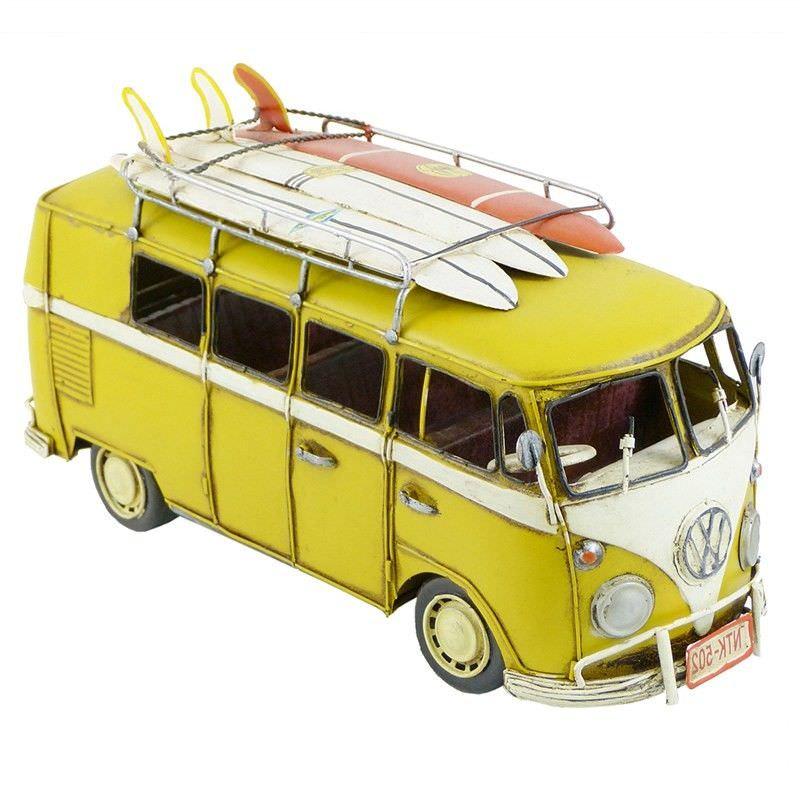 Boutica Handmade Tin Large VW Kombi Van Model - Yellow