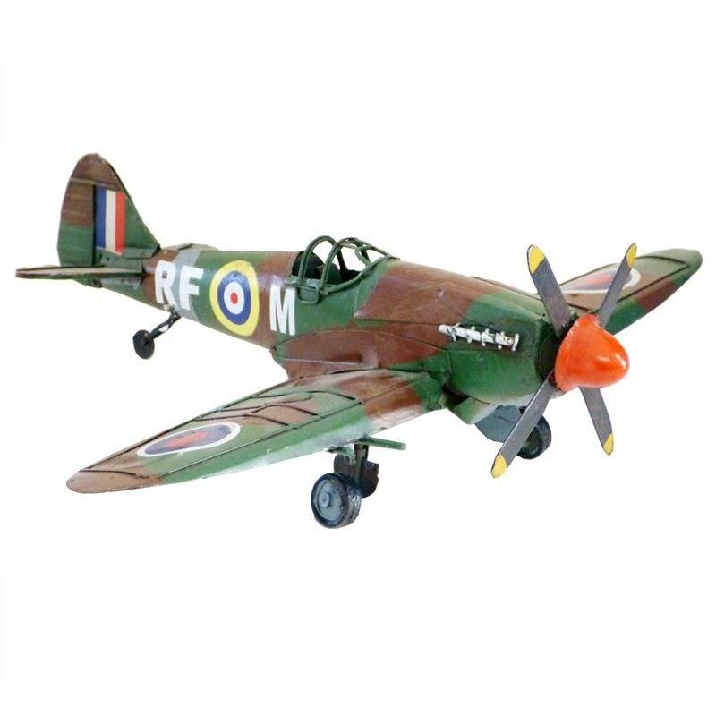 Boutica Handmade Tin Aircraft Model - 1941 Spit Fire Plane